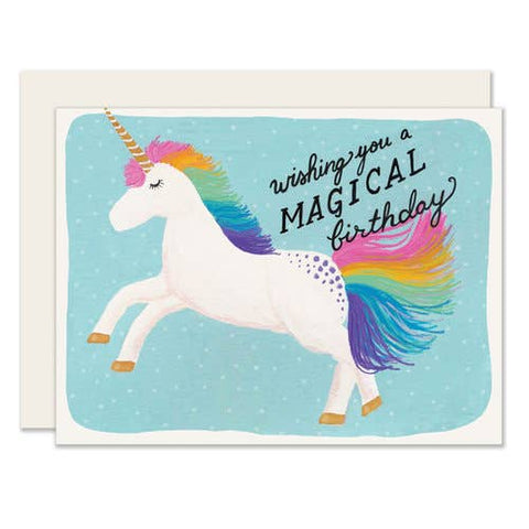 Birthday Card - Magical Birthday Unicorn