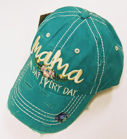 Distressed Hat - Mama All Day Everyday