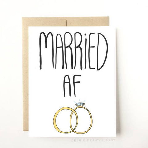 Wedding Card - Married AF