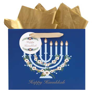 Gift Bag - Menorah - Medium Vogue