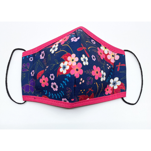 Child Size Face Mask - Midnight Floral