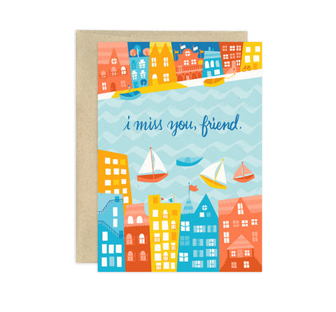 Card - Miss You, Friend