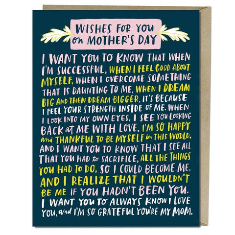 Mother's Day Card - Wishes for you on Mother's Day
