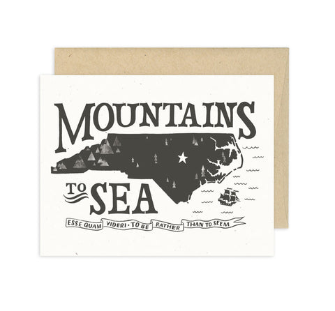 North Carolina Card - Mountains to Sea