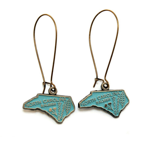 North Carolina Dangle Earrings