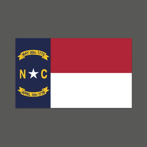 Vinyl Sticker - North Carolina Flag