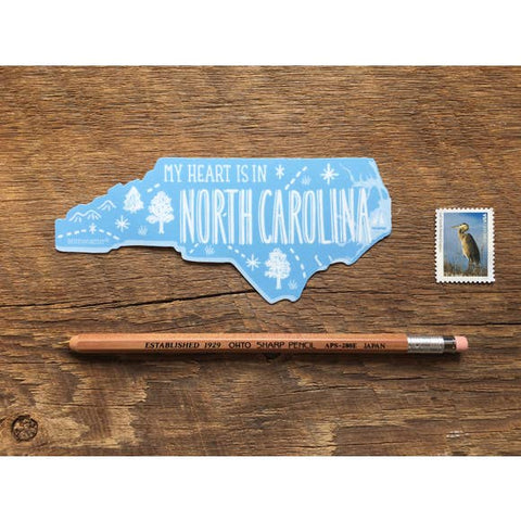 Vinyl Sticker - My Heart is in North Carolina