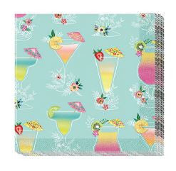 Cocktail Napkins - Tropical Drinks