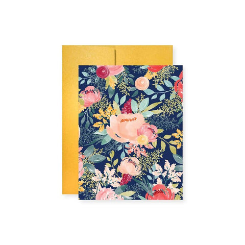 Navy Floral All Occasion Card