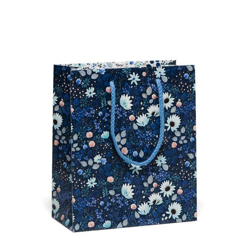 Navy Floral Deluxe Gift Bag