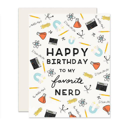 Birthday Card - Favorite Nerd