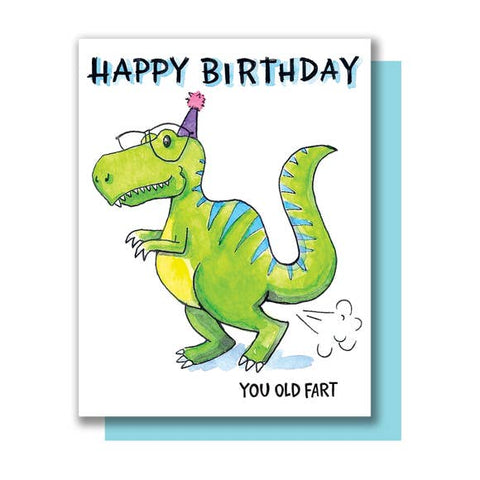 Funny Birthday Card - Old Fart
