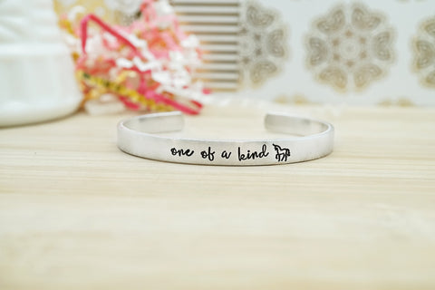 "Hand Stamped Cuff Bracelet - ""One of a Kind"""