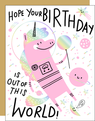 Birthday Card - Out of This World Unicorn