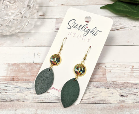 Fall Trees Dangle Earrings