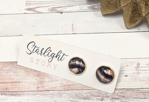 Planetary Glass Stud Earrings