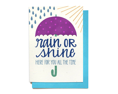 Sympathy Card - Rain or Shine