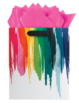 Gift Bag - Rainbow Drip - Medium