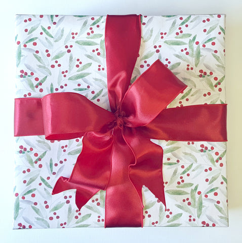 Holiday Gift Wrap Service - Red Holly