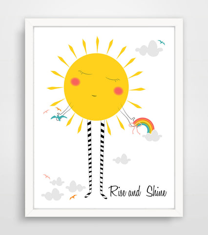 Children's Art Print - Rise and Shine