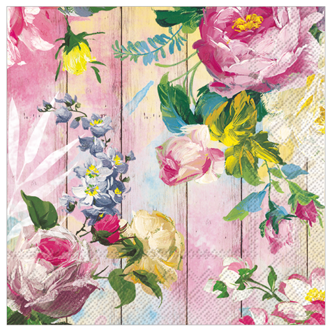 Cocktail Napkins - Cottage Roses