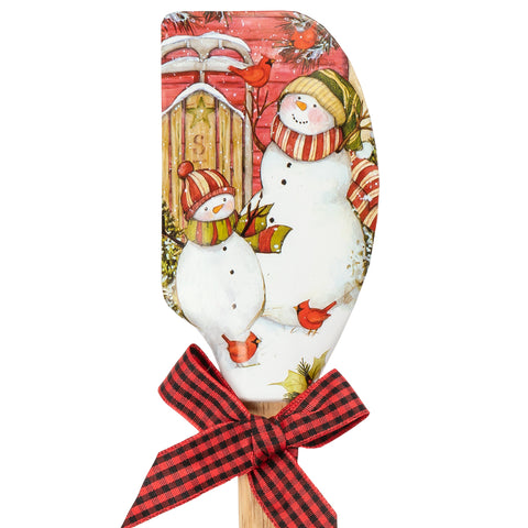Sledding Snowmen Holiday Spatula