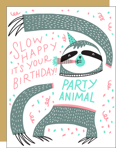 Birthday Card - Sloth