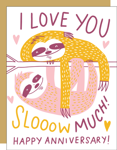 Anniversary Card - Sloths