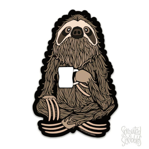 Vinyl Sticker - Coffee Sloth