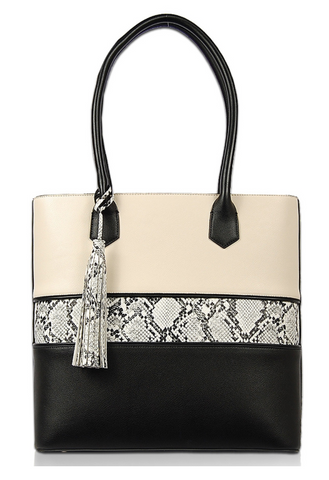 Faux Snakeskin Shoulder Bag