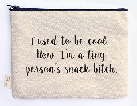 Canvas Zipper Pouch - I Used to Be Cool