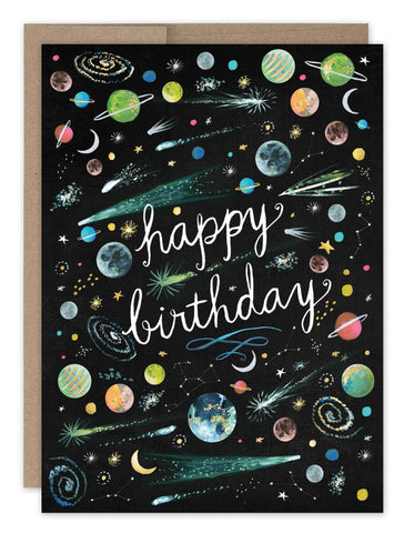 Birthday Card - Outer Space