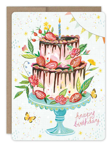Birthday Card - Strawberry Cake