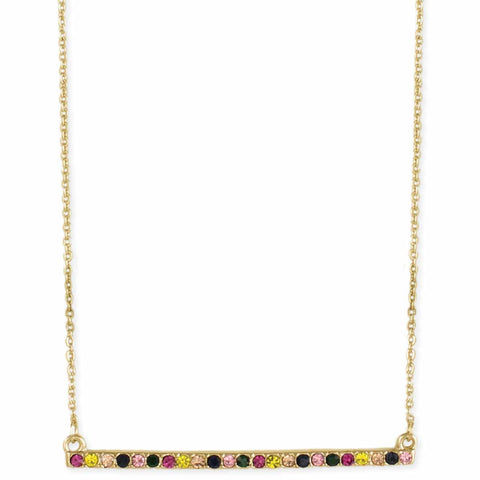 Summer Meadow Crystal Bar Necklace