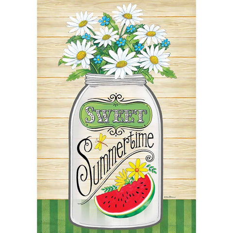 Garden Flag - Sweet Summertime Mason Jar