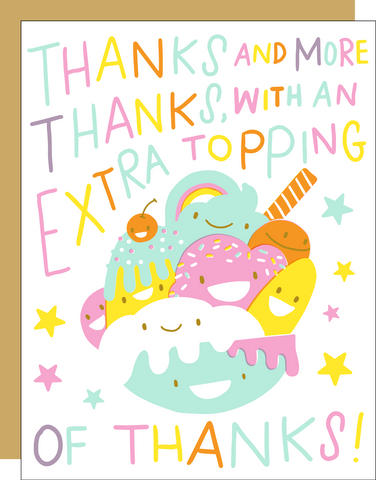 Thank You Card - Sundae