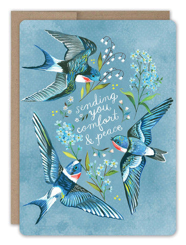 Sympathy Card - Swallows