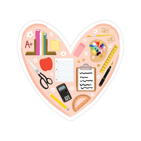 Vinyl Sticker - Teacher Love