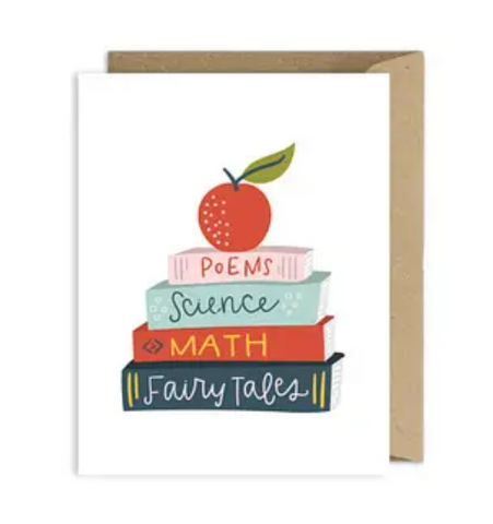 Teacher Card - Books
