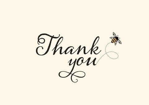 Boxed Thank You Cards - Bee