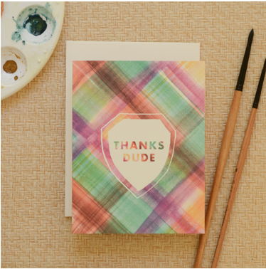 Boxed Thank You Cards - Thanks Dude - Set of 8