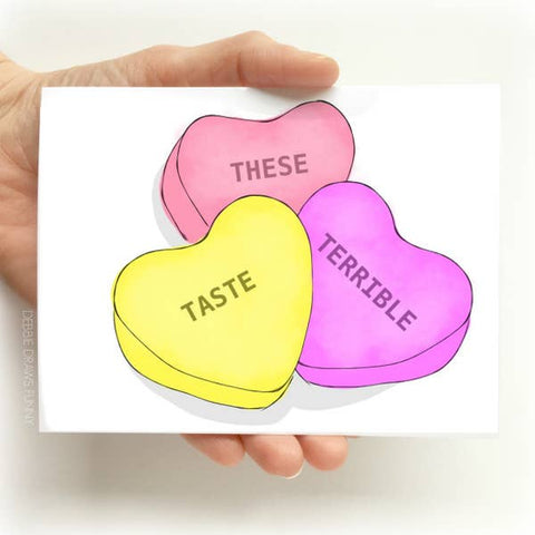 Valentine's Day Card - These Taste Terrible