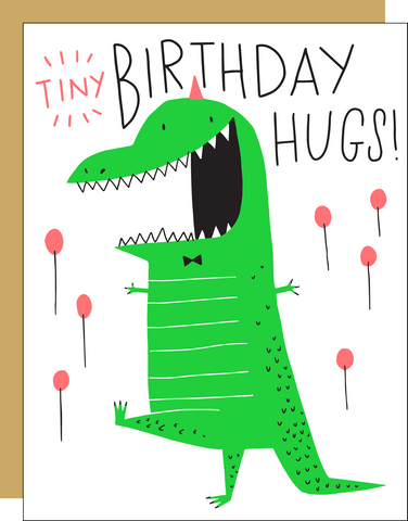 Funny Card - Tiny Birthday Hugs