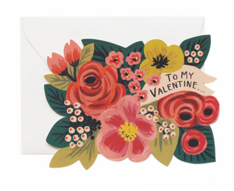 Die Cut Floral Valentine's Day Card