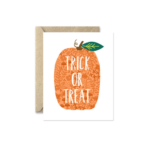 Card - Trick or Treat Pumpkin