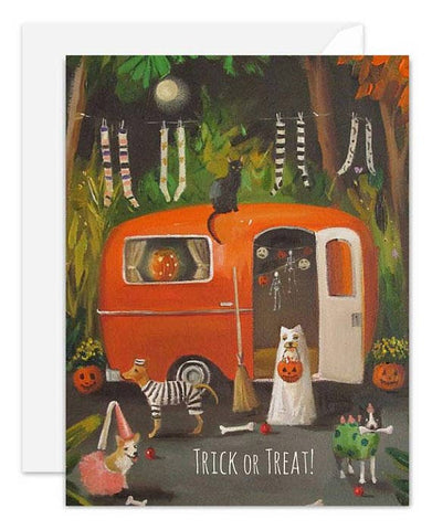 Halloween Card - Dogs Trick or Treat