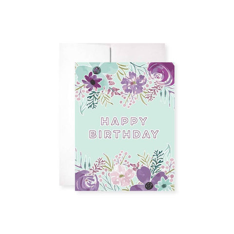 Lavender Willows Birthday Card