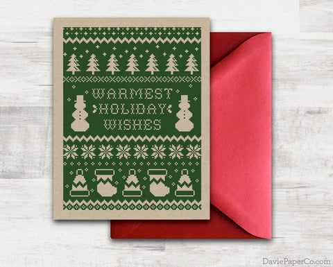 Christmas Card - Warmest Holiday Wishes