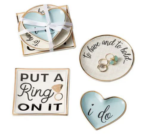 Wedding Ring Trinket Dishes