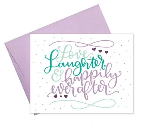 Wedding Card - Love, Laughter and Happily Ever After